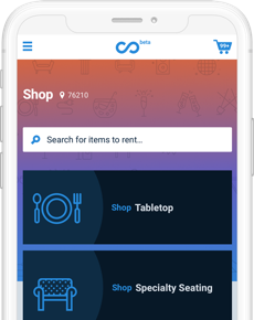 TapGoods Marketplace - Mobile screen of online marketplace to grow rental businesses