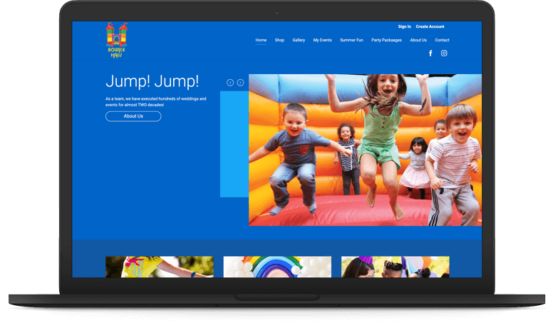 Storefront for Inflatables - Magnolia Dark Theme