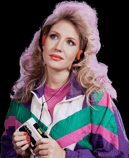 80s fashion lady
